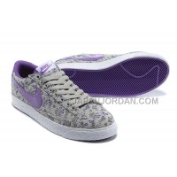 ホット販売 Nike Blazer Low Womens Canvas Floral Purple Shoes