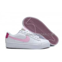 ホット販売 Nike Blazer Low Womens Pink White Shoes