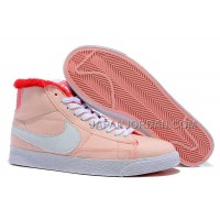 Nike Blazer Mid Canvas Womens Pink Red Shoes 割引販売