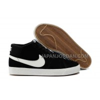 Nike Blazer Mid Suede Mens Black White Shoes 格安特別
