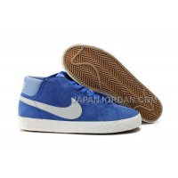 Nike Blazer Mid Suede Mens Blue White Shoes 格安特別