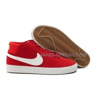 Nike Blazer Mid Suede Mens Red White Shoes 格安特別