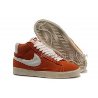Nike Blazer Mid VNTG Mens Orange White Shoes 格安特別