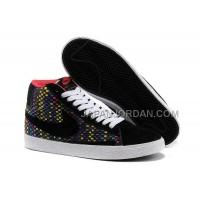 Nike Blazer Mid Woven Mens Colorful Black Shoes 格安特別