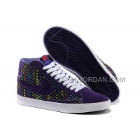 Nike Blazer Mid Woven Womens Colorful Purple Shoes 割引販売
