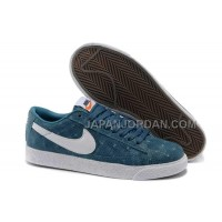 Nike Blazer Premium Retro Womens Peacock Blue Snake Grain Shoes 割引販売