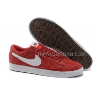 Nike Blazer Premium Retro Womens Red White Snake Grain Shoes 割引販売