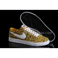 Nike Blazer Print Low Womens In Yellow Leopard Shoes 割引販売