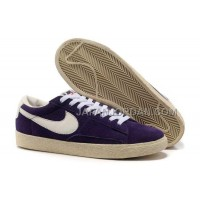 Nike Blazer Suede Vintage Low Premium Mens Purple Shoes 格安特別