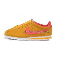 Nike Classic Cortez Nylon Mens Gold Yellow Red 本物の