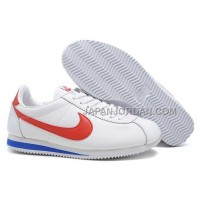 Nike Classic Cortez Nylon Mens White Red 本物の