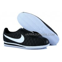 Nike Classic Cortez Nylon Womens All Black White 新着