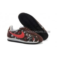 Nike Classic Cortez Nylon Womens Brown Red 新着