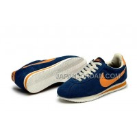 Nike Classic Cortez Nylon Womens Dark Blue Orange 新着