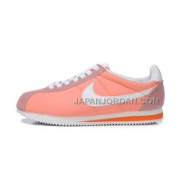 新着 Nike Classic Cortez Nylon Womens Light Orange White
