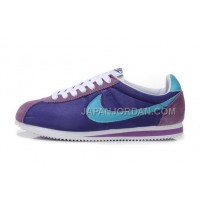 Nike Classic Cortez Nylon Womens Purple Moon Blue 新着