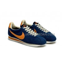 割引販売 Nike Classic Cortez Yoth Mens Deep Blue Orange