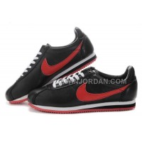 Nike Cortez Leather Men Shoes Black Red 割引販売