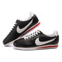 Nike Cortez Leather Men Shoes Black White 割引販売