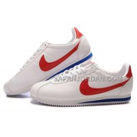 Nike Cortez Leather Men Shoes White Red 割引販売