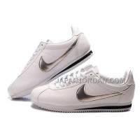 Nike Cortez Leather Men Shoes White Silver 割引販売