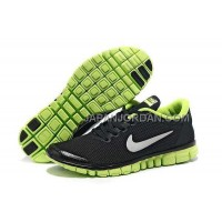 本物の Nike Free 3.0 V2 Mens Black Fluorescence Green Shoes