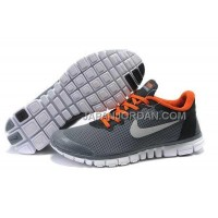 本物の Nike Free 3.0 V2 Mens Gray Orange Shoes