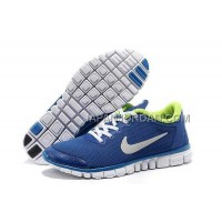 本物の Nike Free 3.0 V2 Mens Royalblue Fluorescence Green Shoes