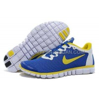 本物の Nike Free 3.0 V2 Mens Royalblue Lemon Yellow Shoes
