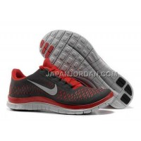 Nike Free 3.0 V4 Mens Black Gym Red Wolf Grey Shoes 本物の