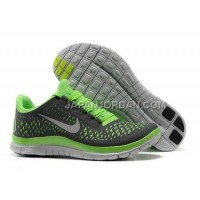 Nike Free 3.0 V4 Mens Dark Grey Electric Green Wolf Grey Shoes 本物の