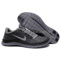 Nike Free 3.0 V4 Mens Grey Silver Black Shoes 本物の