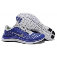Nike Free 3.0 V4 Mens Pure Platinum Reflect Silver Deep Royal Shoes 本物の