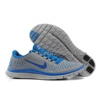 Nike Free 3.0 V4 Mens Wolf Grey Blue Shoes 本物の