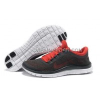 Nike Free 3.0 V5 Mens Deep Gray Red Shoes 本物の