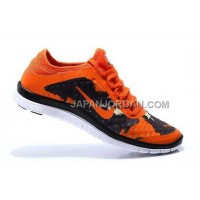 Nike Free 3.0 V7 Mens Vivid Orange Bright Black Shoes 本物の