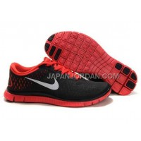 Nike Free 4.0 V2 Mens Black Red Shoes 本物の