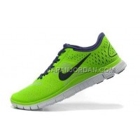Nike Free 4.0 V2 Mens Electric Green Night Blue Purple Shoes 本物の