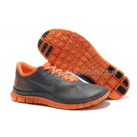Nike Free 4.0 V2 Mens Gray Orange Shoes 本物の
