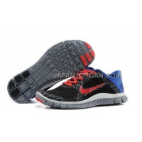 ホット販売 Nike Free 4.0 V3 Mens Black Red Royalblue Shoes