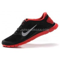 Nike Free 4.0 V3 Mens Black Red Silver Shoes 本物の