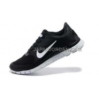 Nike Free 4.0 V3 Mens Black White Shoes 本物の