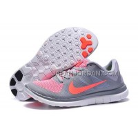 新着 Nike Free 4.0 V4 Womens Gray Pink Shoes