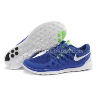 ホット販売 Nike Free 5.0 2014 Mens Dark Blue White Shoes