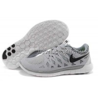 ホット販売 Nike Free 5.0 2014 Mens Light Gray Black Shoes