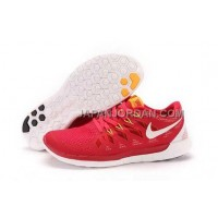 ホット販売 Nike Free 5.0 2014 Mens Red White Shoes
