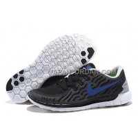 ホット販売 Nike Free 5.0 2 Mens Black White Royalblue Shoes