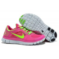 新着 Nike Free 5.0 V3 Womens Red Fluorescent Green Shoes