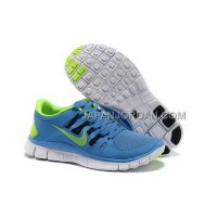 新着 Nike Free 5.0 Womens Blue Fluoresence Green Shoes