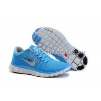 新着 Nike Free 5.0 Womens Blue Light Gray Shoes